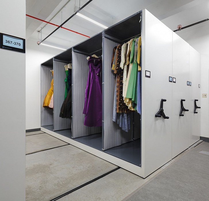 Tall gown storage, Museum, Fashion Institute of Technology