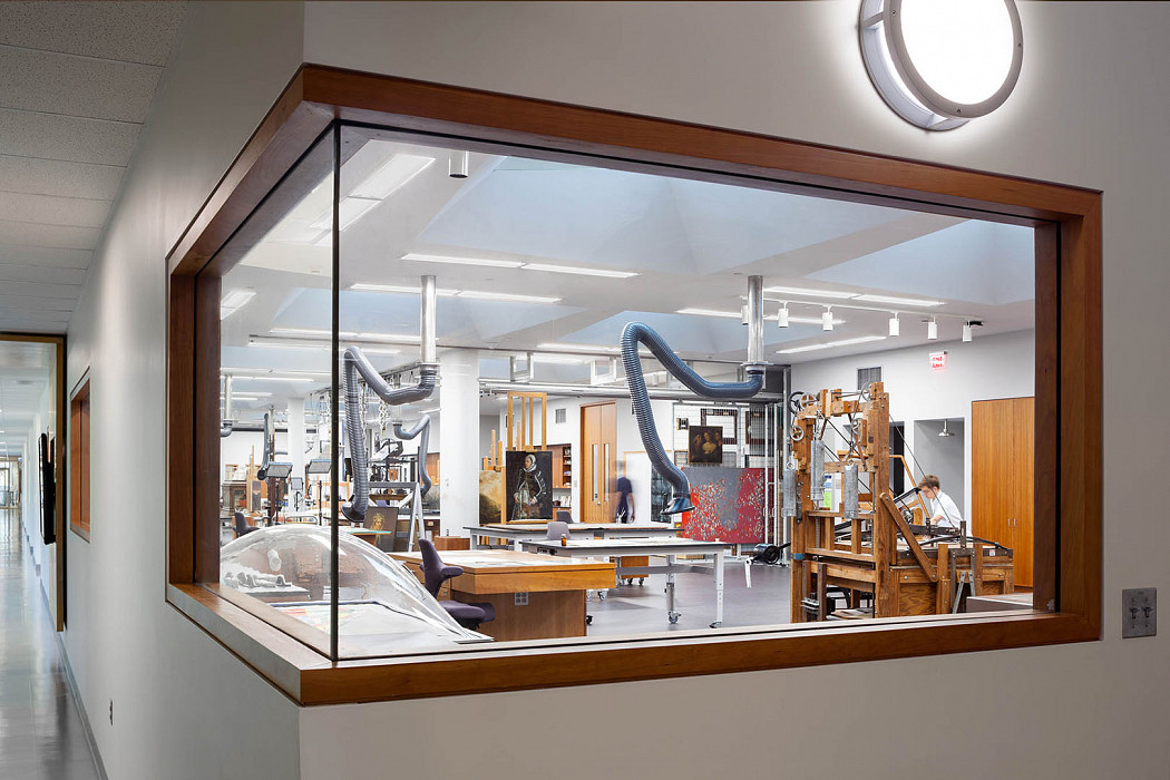 View in from corridor, Art Conservation, Yale University