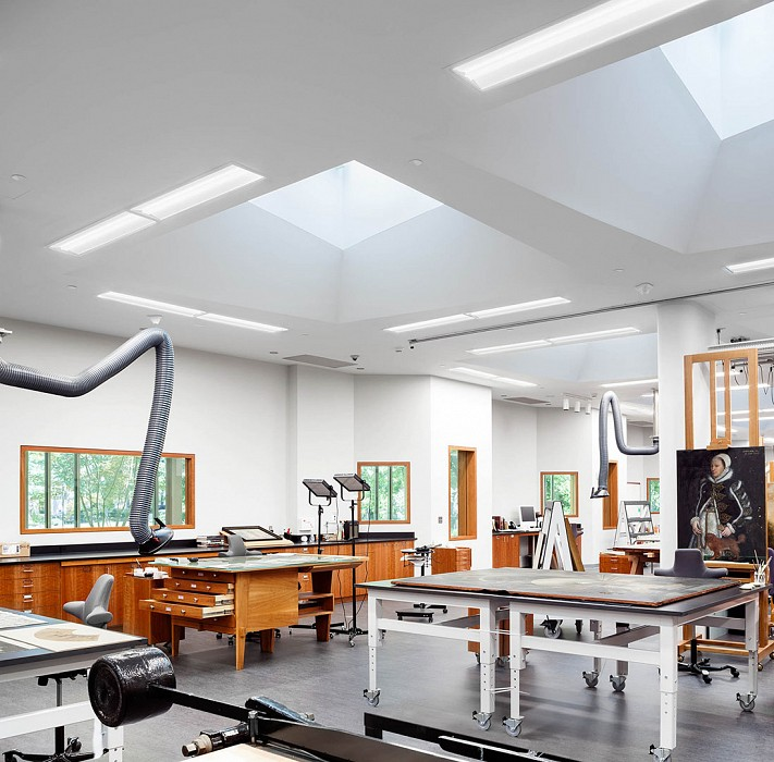 Flexible examination and treatment space, Art Conservation, Yale University