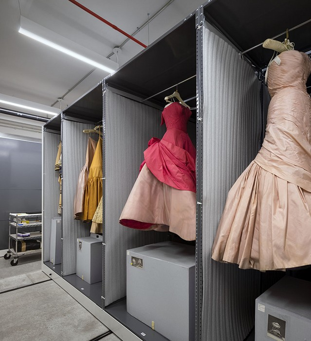 Speciality gown storage, Museum, Fashion Institute of Technology