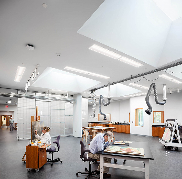 Inpainting and examination, Art Conservation, Yale University