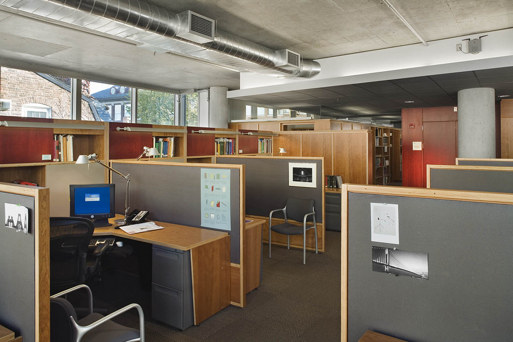 Typical Workstations, Collections Center, Harvard University Library