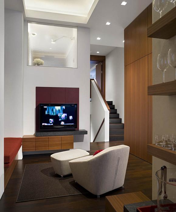 TV nook, Mercer Greene Apartment