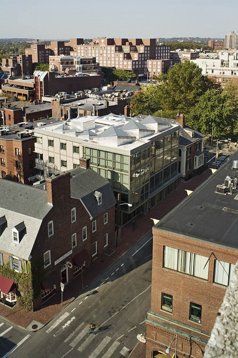 View from Holyoke Center, Collections Center, Harvard University Library