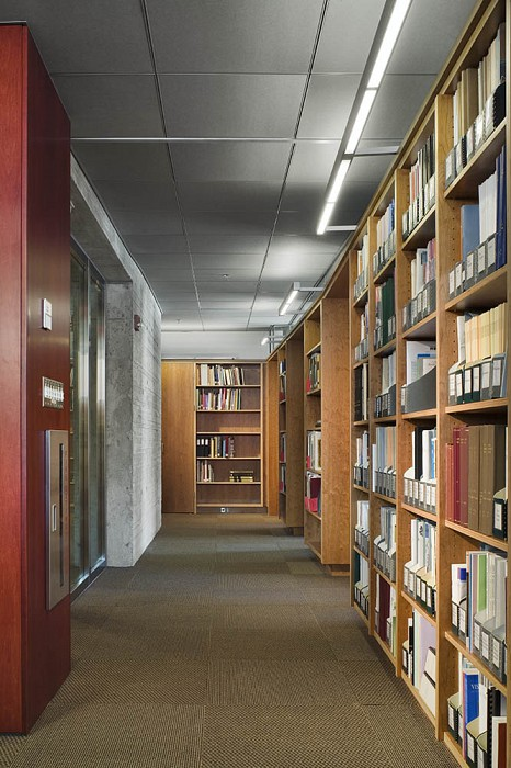 Typical Corridor, Collections Center, Harvard University Library