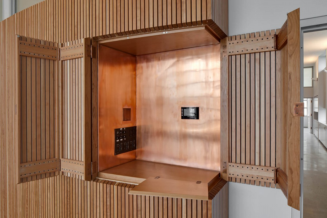 Niche for A:V Controls, Guggenheim Museum