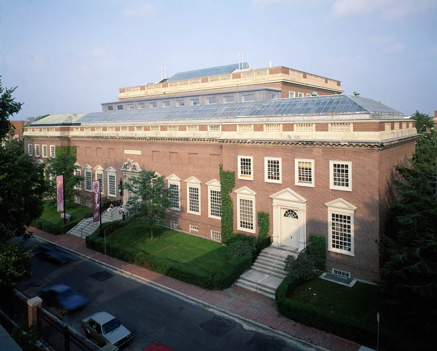View from Emerson Hall, Straus Center for Conservation, Harvard Art Museums
